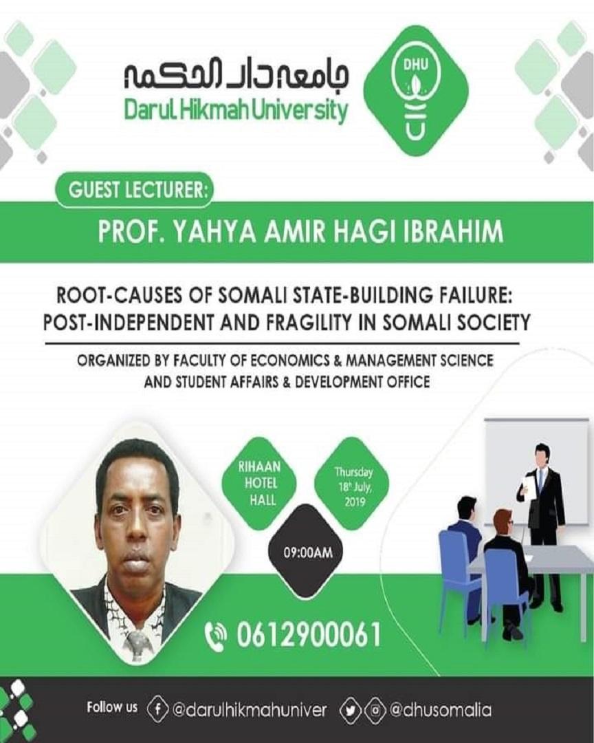 Prof. Yahye Amir Haji Ibrahim